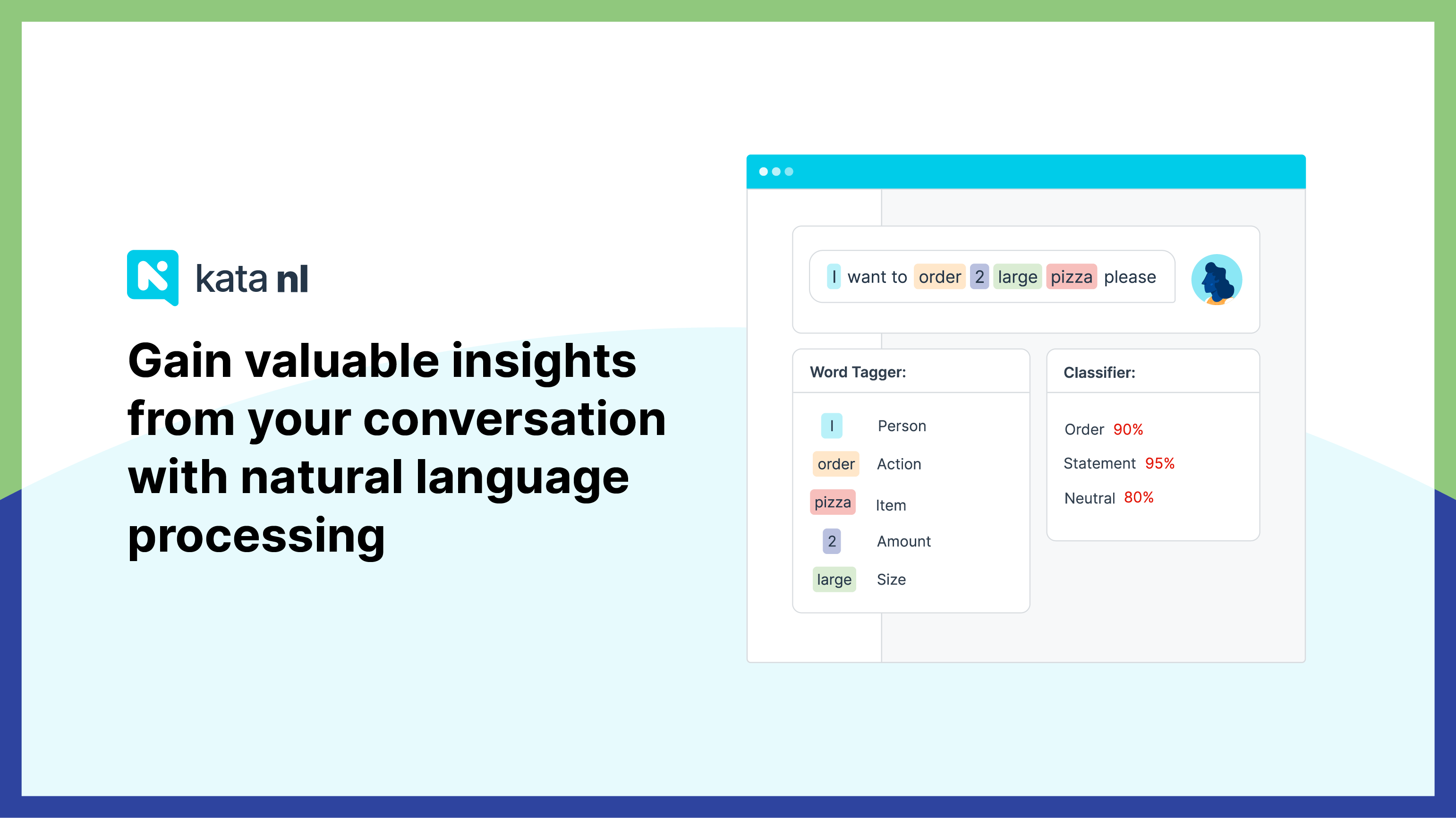 Create you own natural language (NL) model for your chatbot and gain valuable insight from your conversations with Kata NL
