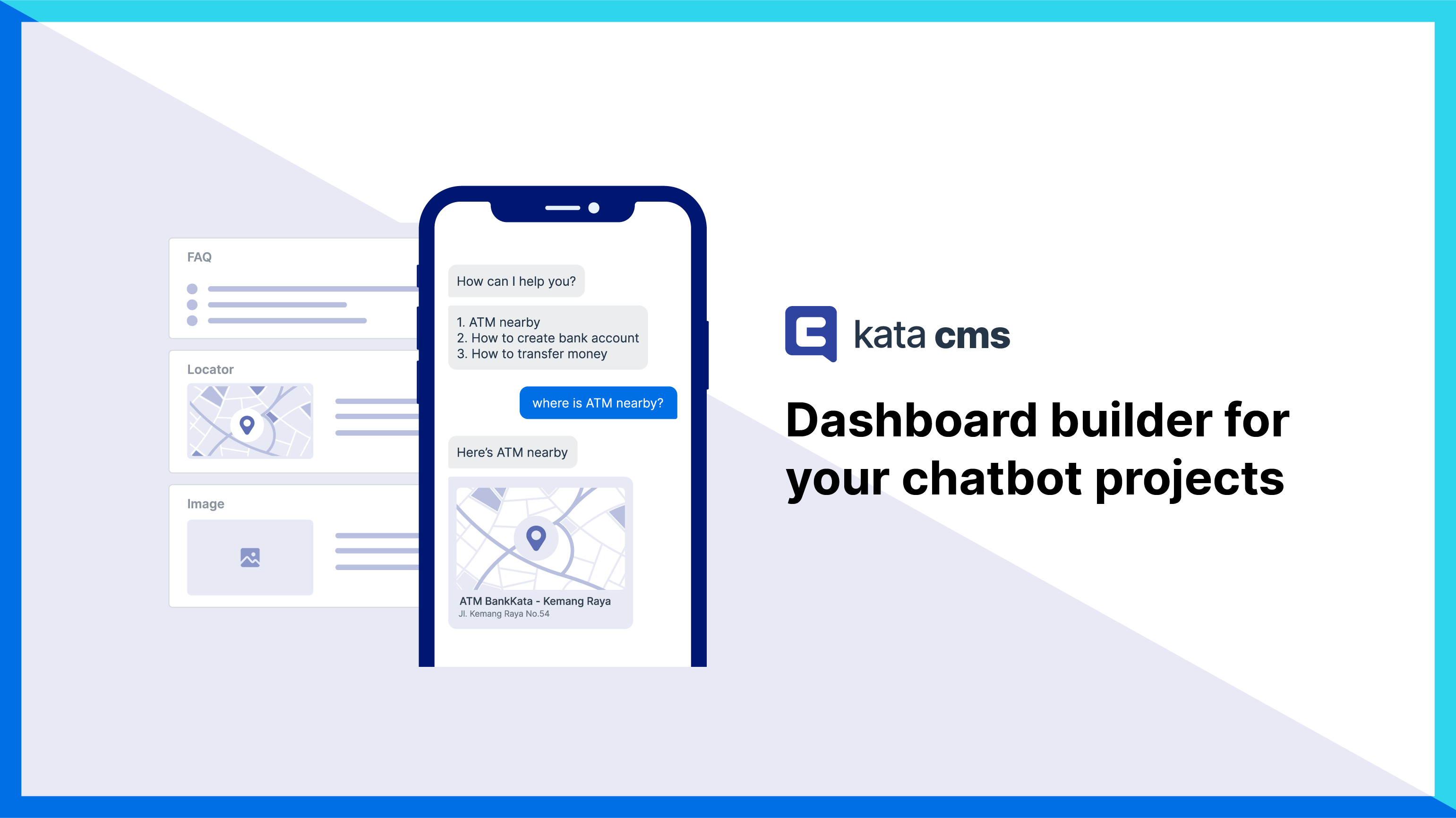 Create a content management system dashboard and manage all contents on your chatbot with Kata CMS