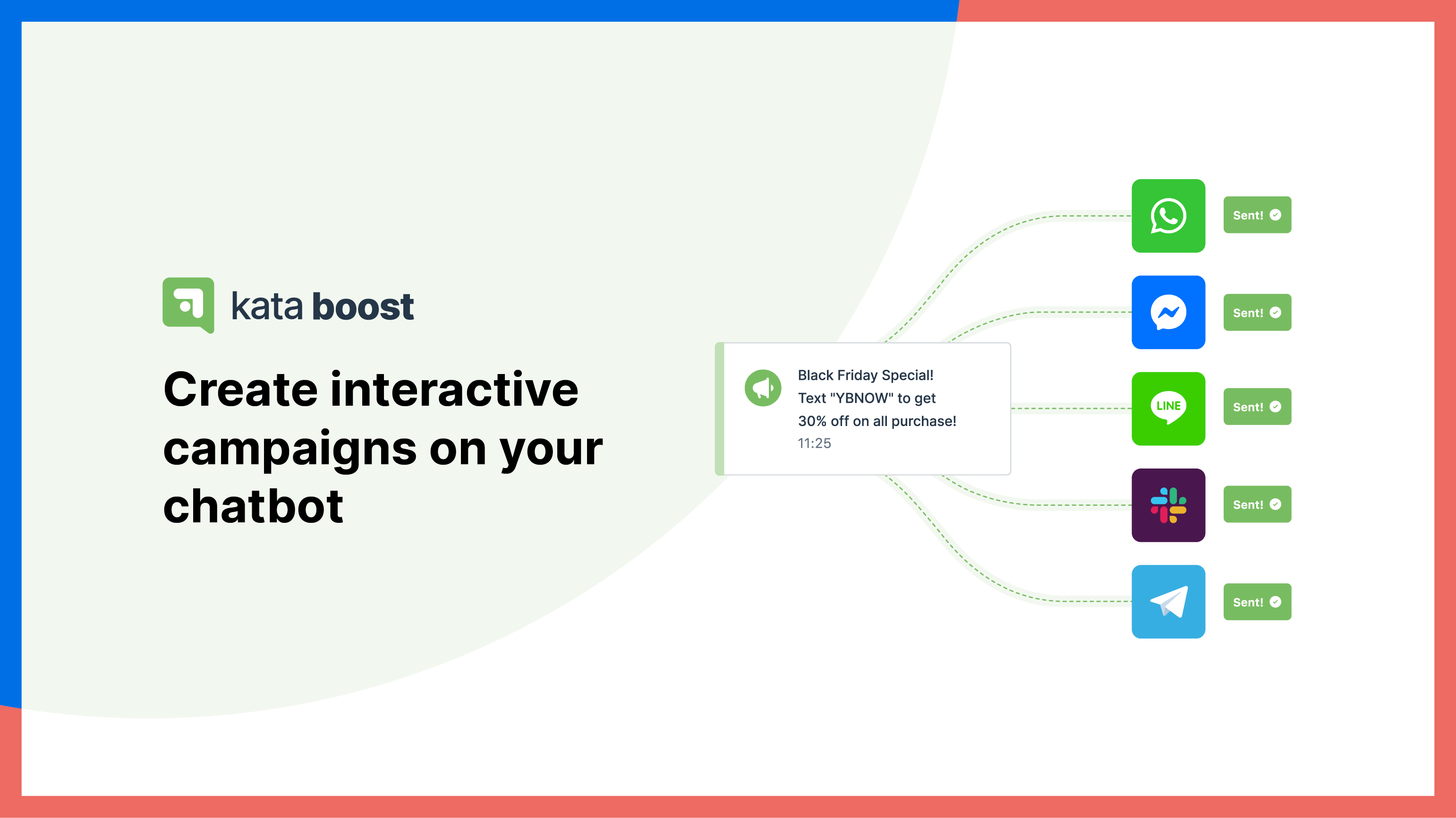 Create and run interactive marketing campaigns on your chatbot with Kata Boost.