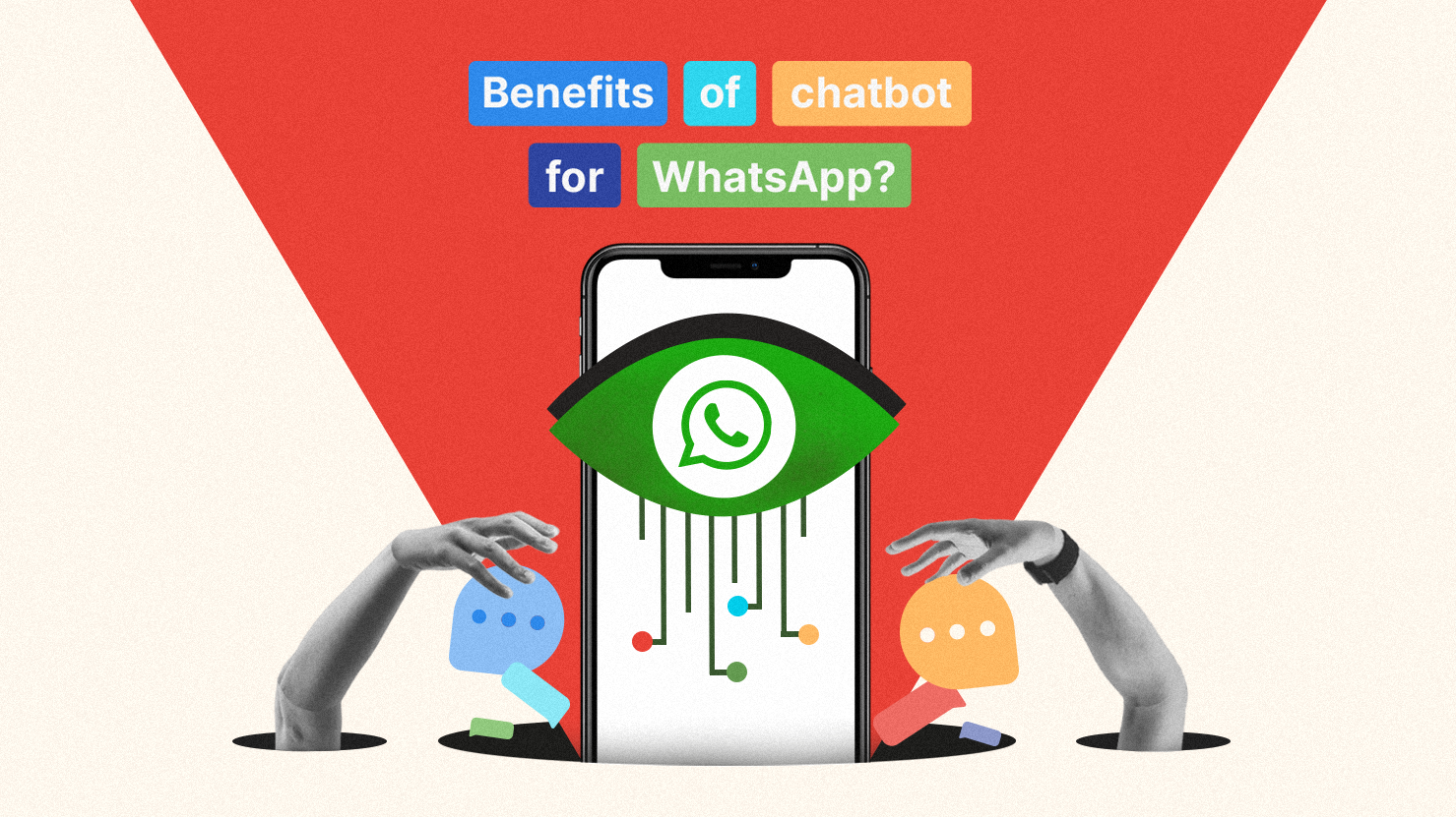 Why should businesses want to implement chatbot for their WhatsApp account? We will discuss what exactly are the benefits of chatbot for WhatsApp (Illustration by Kata.ai)