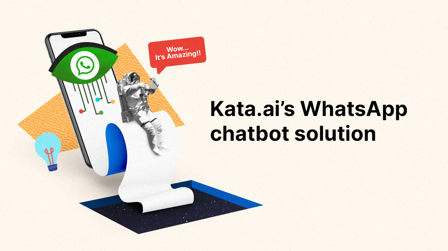 After we discussed the benefits of chatbot for WhatsApp, Let's see how Kata.ai is helping businesses with our WhatsApp chatbot solution (Illustration by Kata.ai)