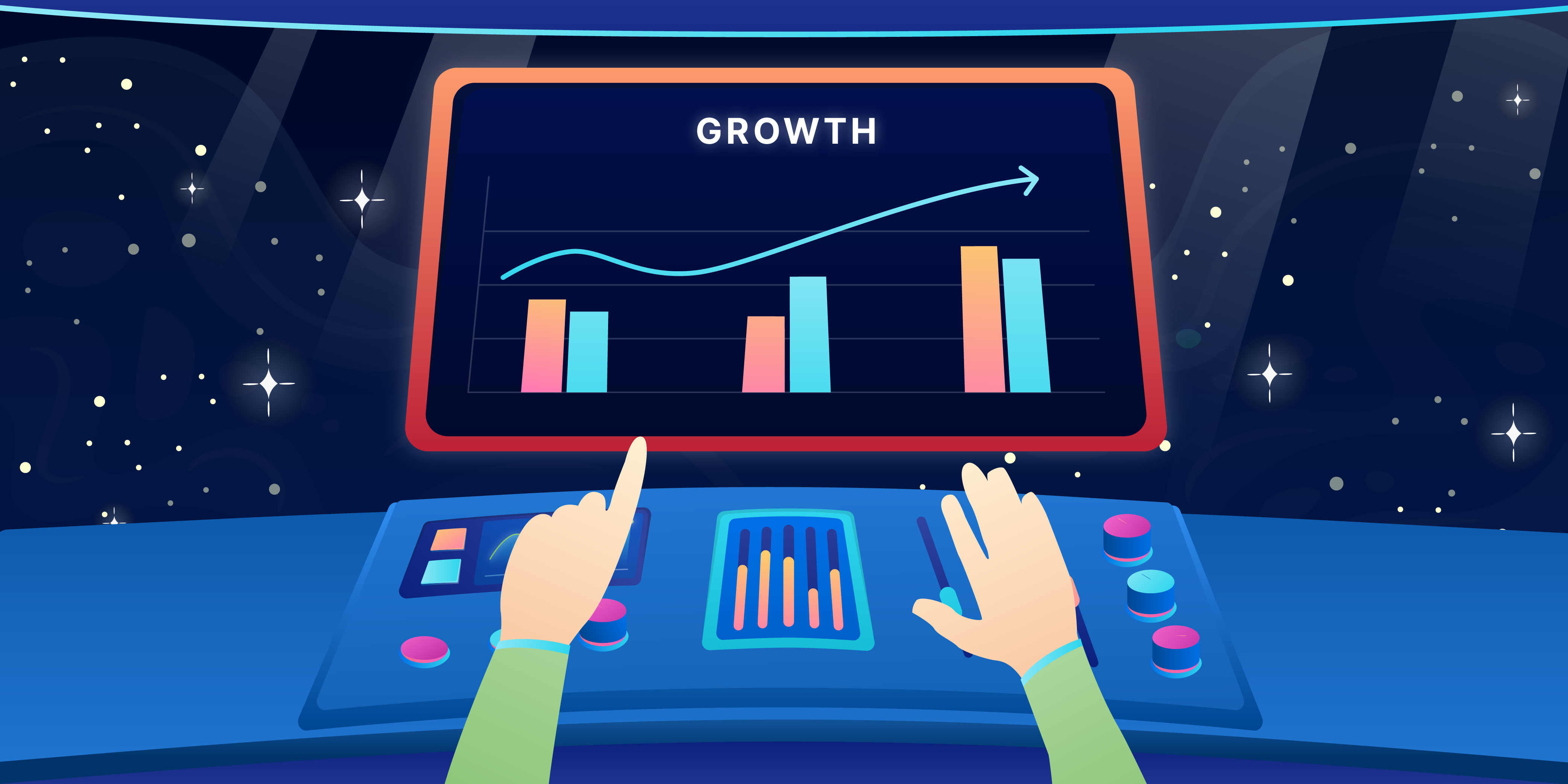 These are the five digital strategies that businesses can implement in order to maximize their revenue in growing their business. (Illustration: Kata.ai)
