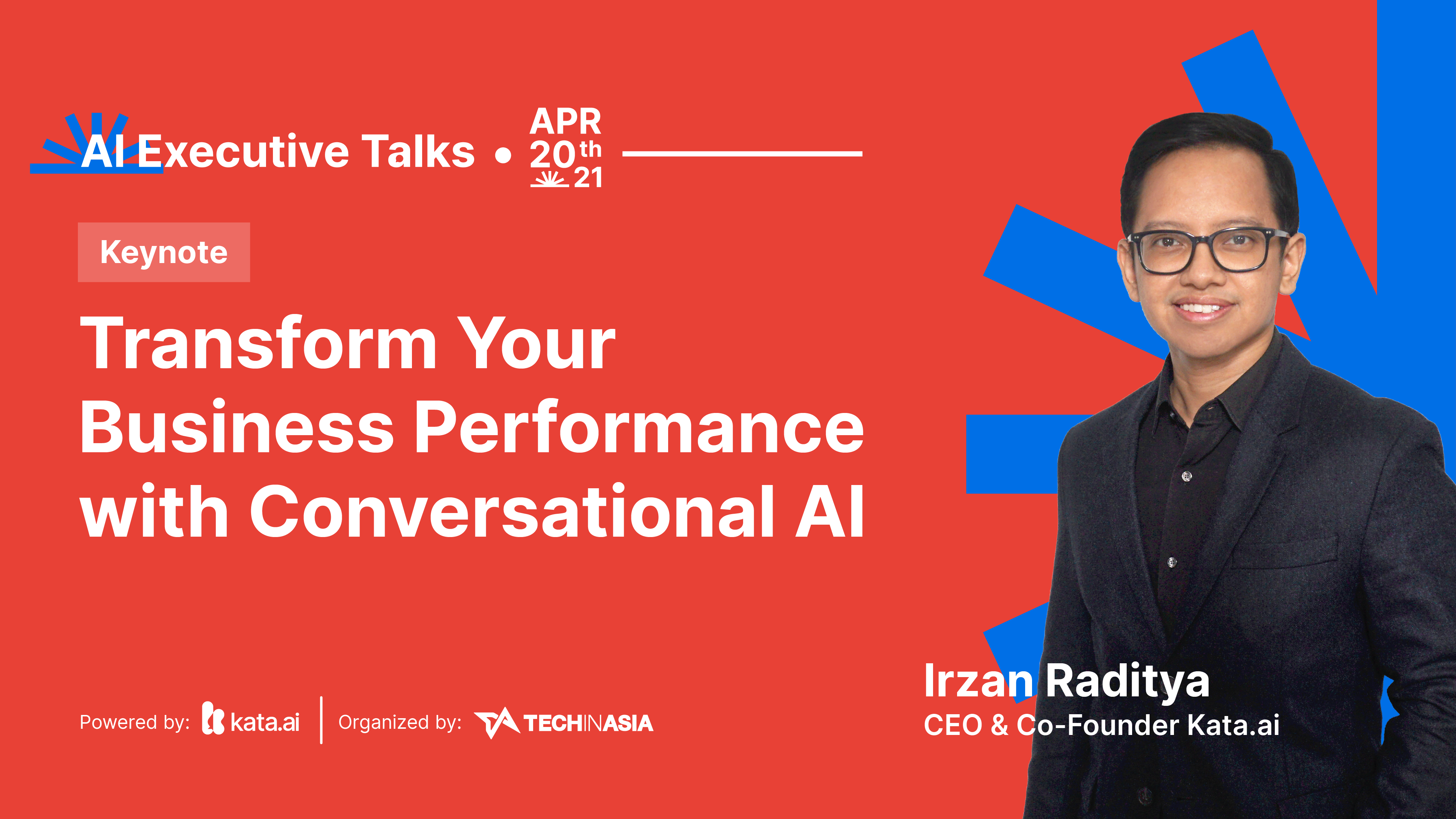 At Kata.ai's AI Executive Talks event, CEO and Co-Founder Irzan Raditya discussed how companies can transform their business performance performance with conversational AI.