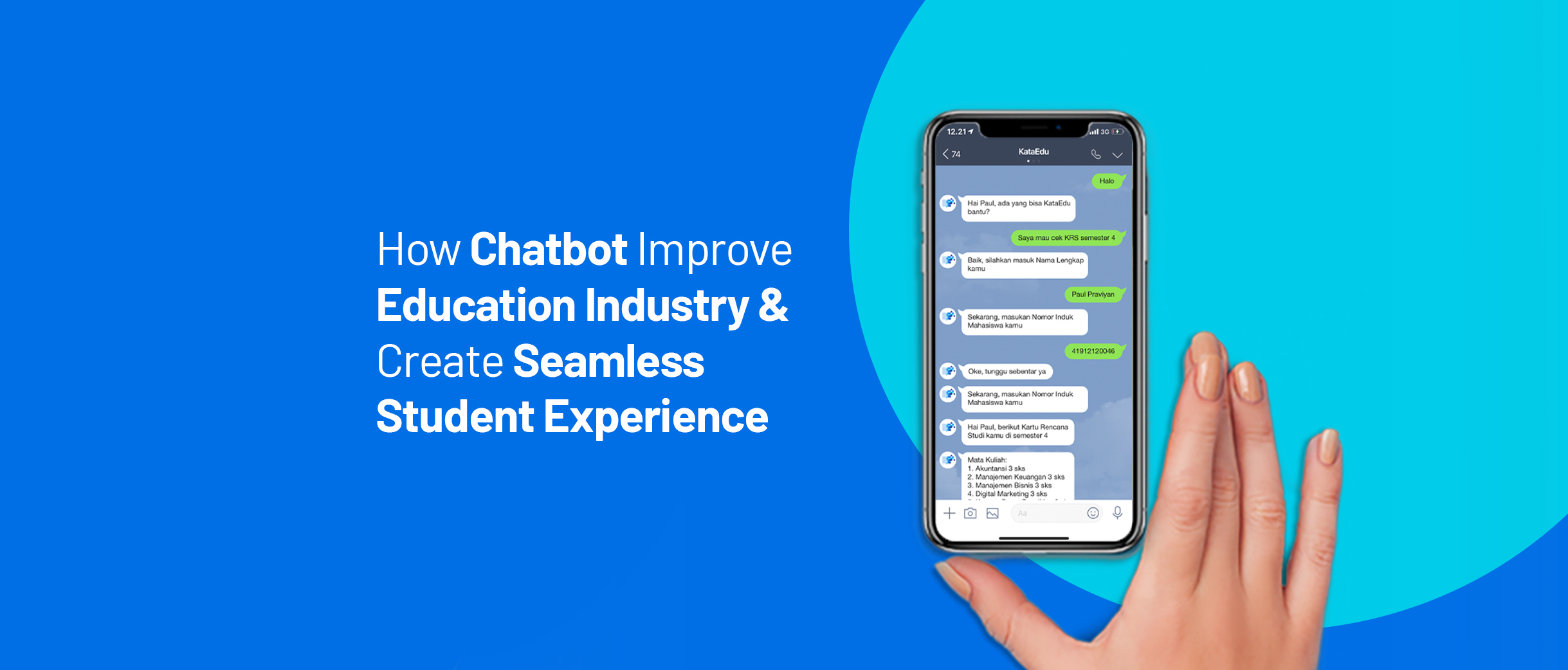 Chatbot enhances student and learning experiences.